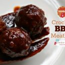 Crockpot BBQ Meatballs | Slow Cooker Sunday | TodaysCreativeBlog.net