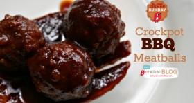 Crockpot BBQ Meatballs | Slow Cooker Sunday | TodaysCreativeBlog.net