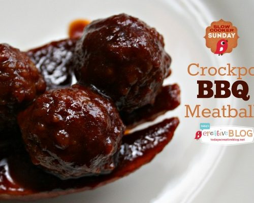 Crockpot BBQ Meatballs | This BBQ Crockpot Meatballs recipe is the perfect party appetizer. Whip up a batch of my BBQ Meatballs in a Crockpot for sandwiches or appetizers and watch them disappear. Visit Today's Creative Life for this Slow Cooker BBQ Meatball recipe.