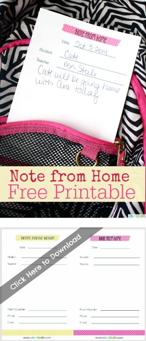 Free Printable Note From Home | TodaysCreativeBlog.net
