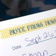 Free Printable Note From Home