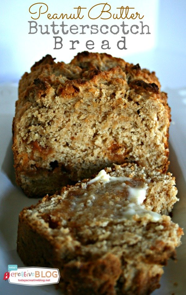Peanut Butter Butterscotch Bread | TodaysCreativeBlog.net
