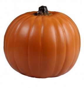 orange faux pumpkin