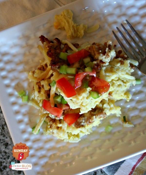 Slow Cooker Breakfast Casserole | TodaysCreativeBlog.net