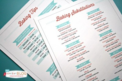Baking Tips PRintable |TodaysCreativeBlog.net