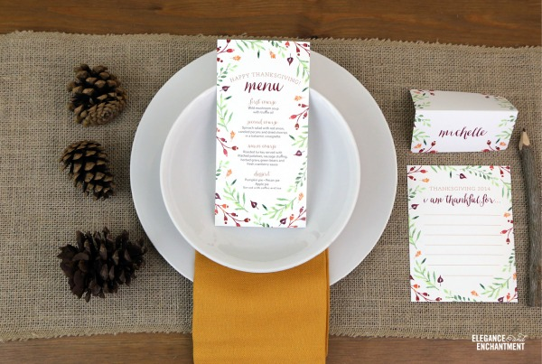Free Thanksgiving Table Printables | TodaysCreativeBlog.net