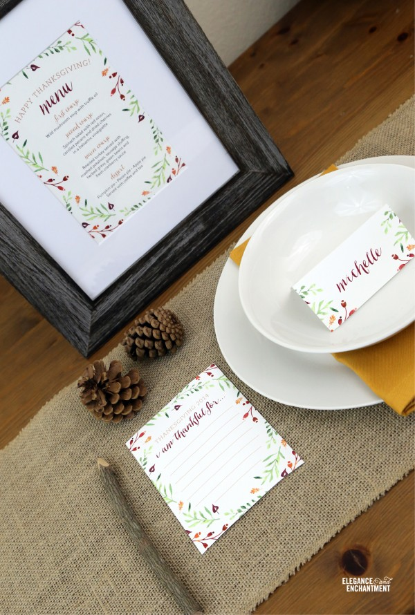 Thanksgiving Table Printables | TodaysCreativeBlog.net