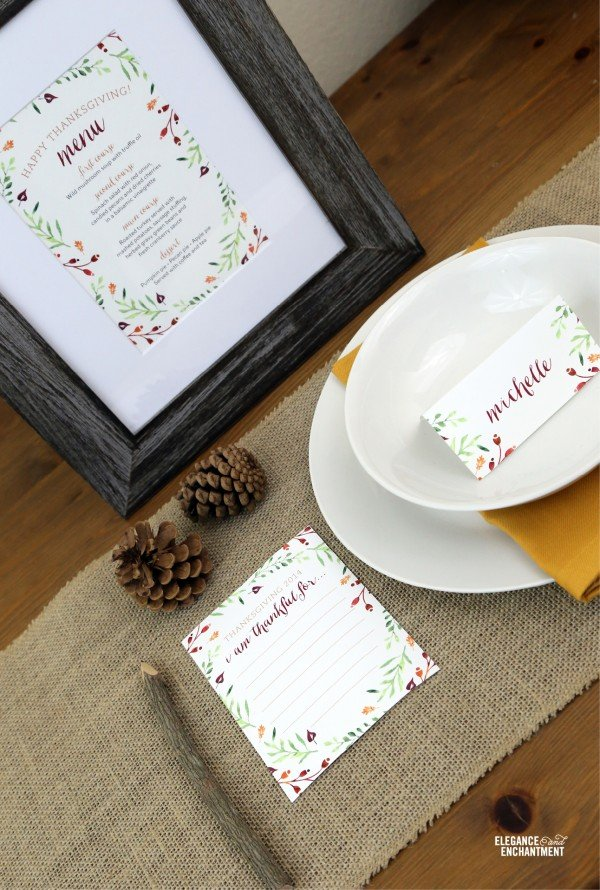 Thanksgiving Table Printables   TodaysCreativeBlog.net