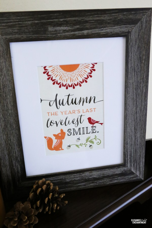 Woodland Party Printables and Wall Art | Free printables for easy fall decorating | TodaysCreativeLife.com