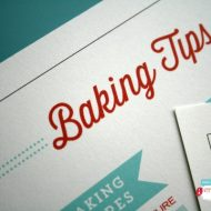Baking Tips and Substitutions FREE Printable