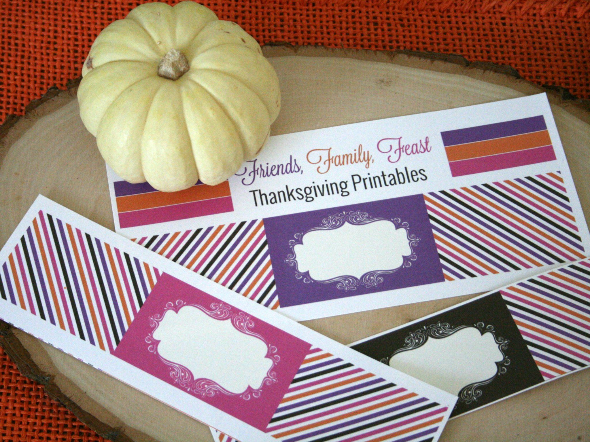 Printable Thanksgiving Napkin Rings | TodaysCreativeBlog.net