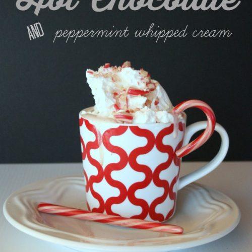 Homemade Peppermint Hot chocolate by TodaysCreativeLife.com