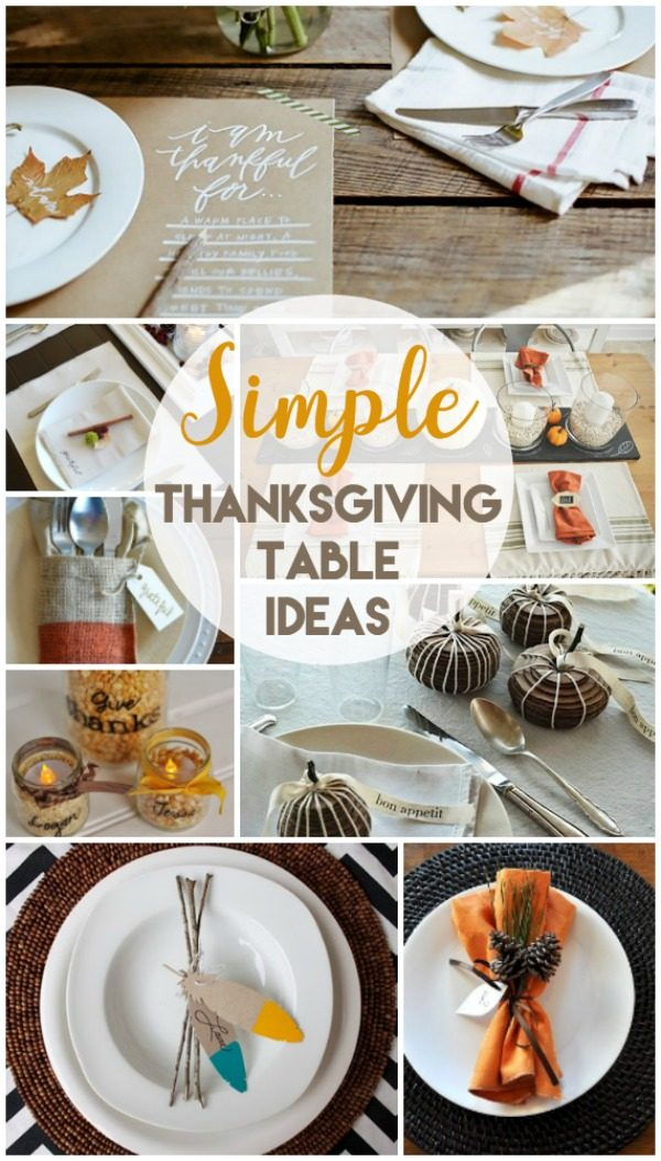 10 Creative Thanksgiving Table Settings | Find simple table setting ideas for Thanksgiving | Fall Table & 10 Creative Thanksgiving Table Settings | Todayu0027s Creative Life