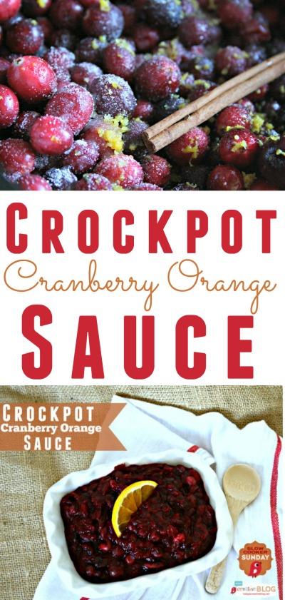 Crockpot Cranberry Orange Sauce