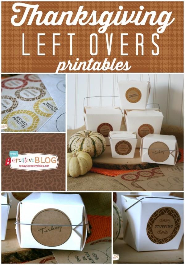 Thanksgiving Left Overs Printable Stickers TodaysCreativeBlog.net