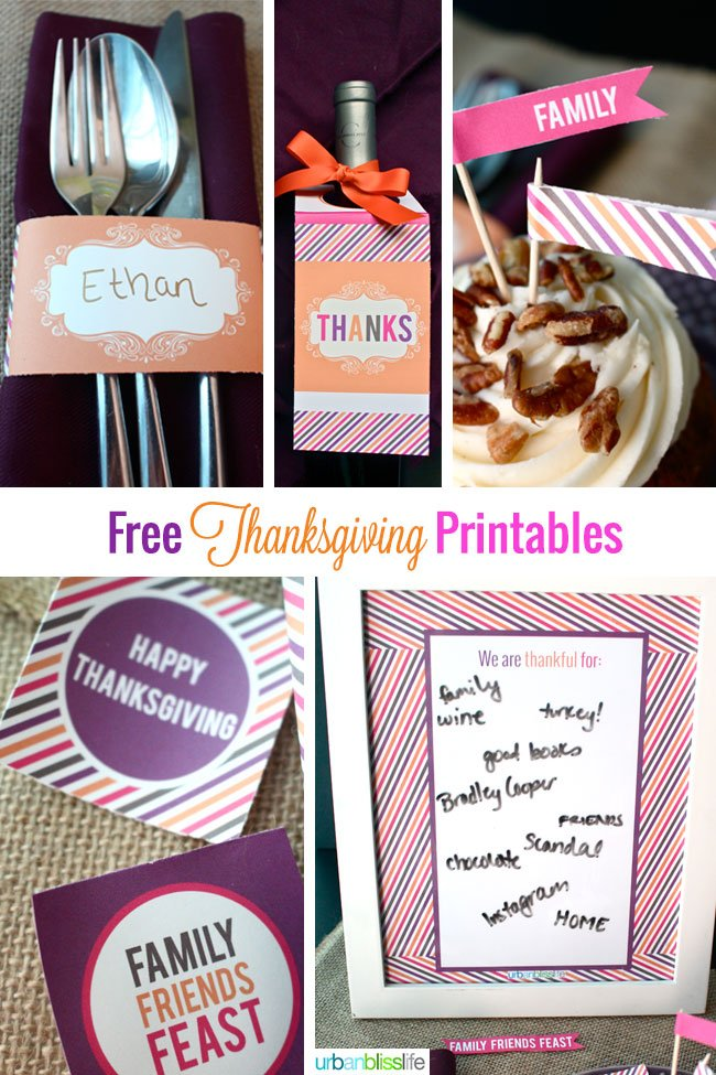Thanksgiving Printable Napkin Rings | TodaysCreativeBlog.net