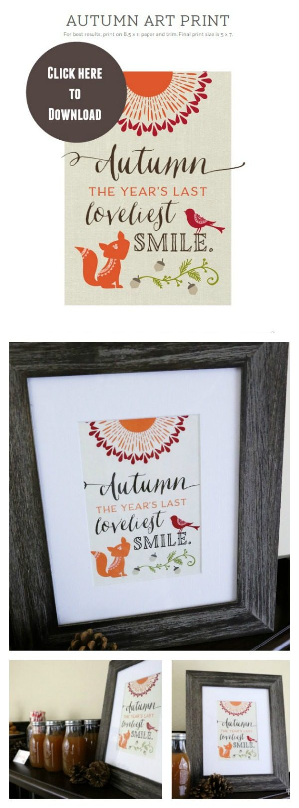 Woodland Party Printables | Fall decorating just got easy! Free printables make entertaining much easier. Perfect for Thanksgiving too! See Today's Creative Life