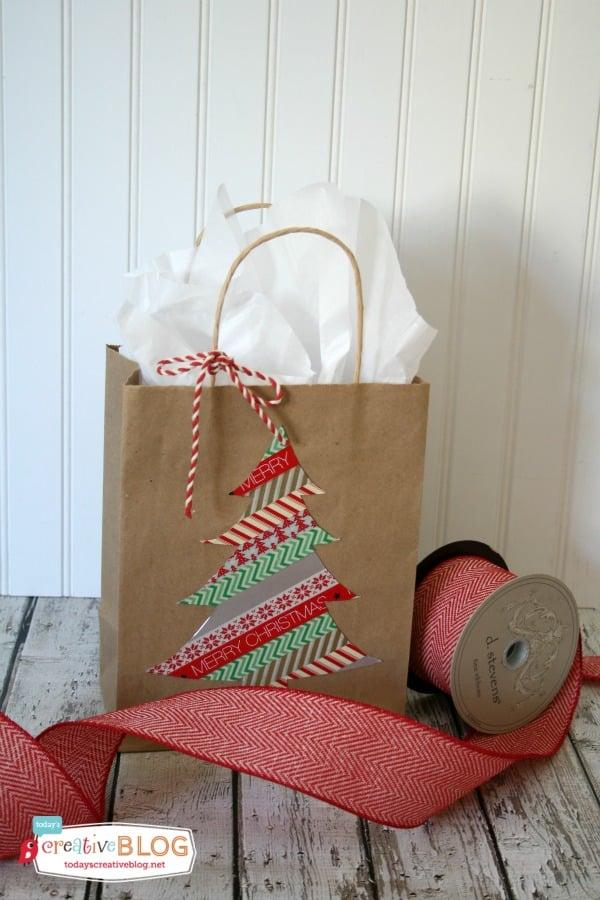 DIY Holiday Gift Bags |White Christmas Diy Gift Bags