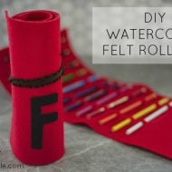 DIY Watercolor Pencil Felt Roll-ups