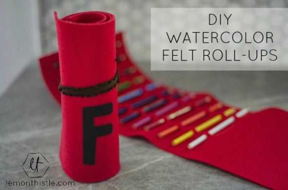 DIY Watercolor Pencil Felt Roll-ups | TodaysCreativeBlog.net