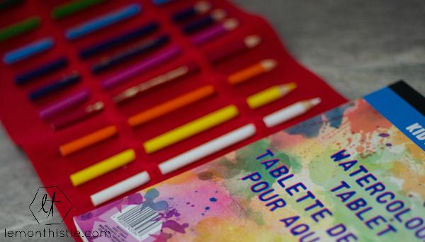DIY Watercolor Pencil Felt Roll-ups | TodaysCreativeBlog.net