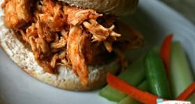 Crock Pot Shredded Buffalo Chicken | TodaysCreativeBlog.net
