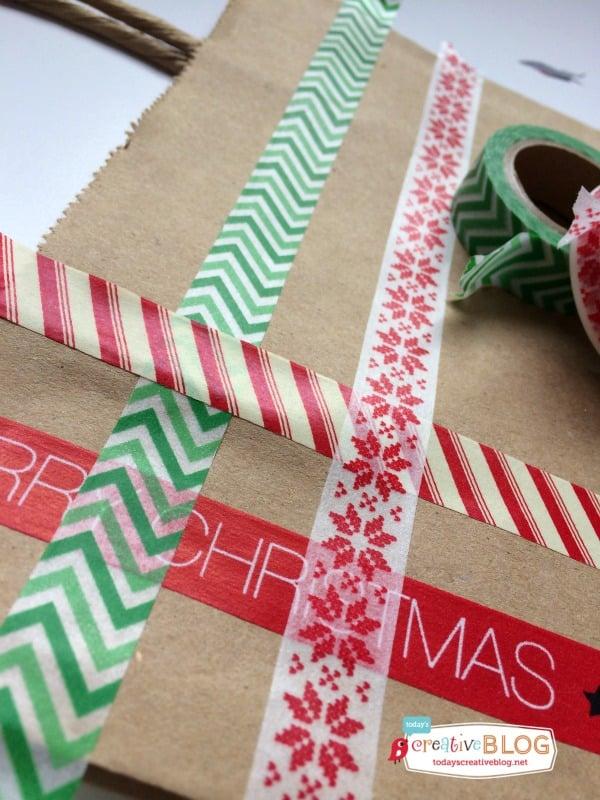 washi tape gift bag DIY