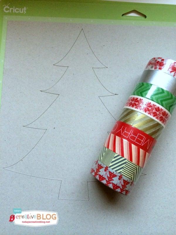 washi tape holiday tree