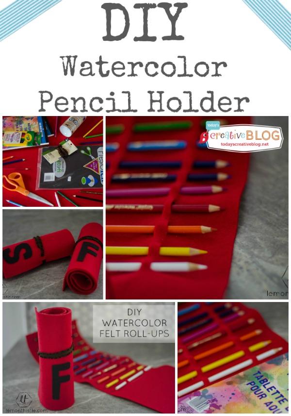 diy watercolor pencil holder | TodaysCreativeBlog.net