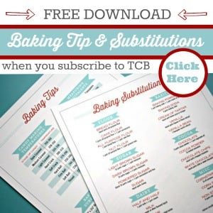 Baking Tips Sidebar