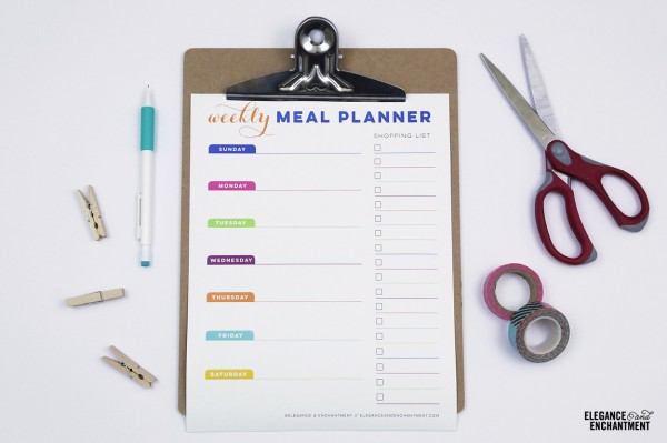 Calendar and Meal Planner Printables - Horizontal