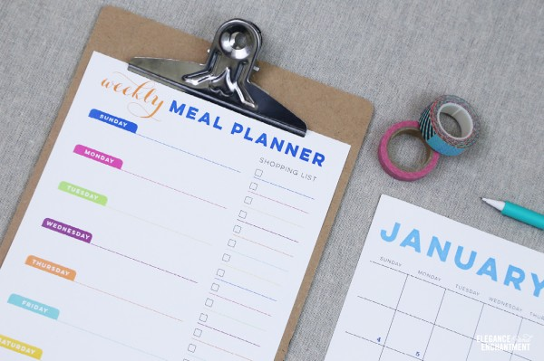 Calendar and Meal Planner Printables - Horizontal4