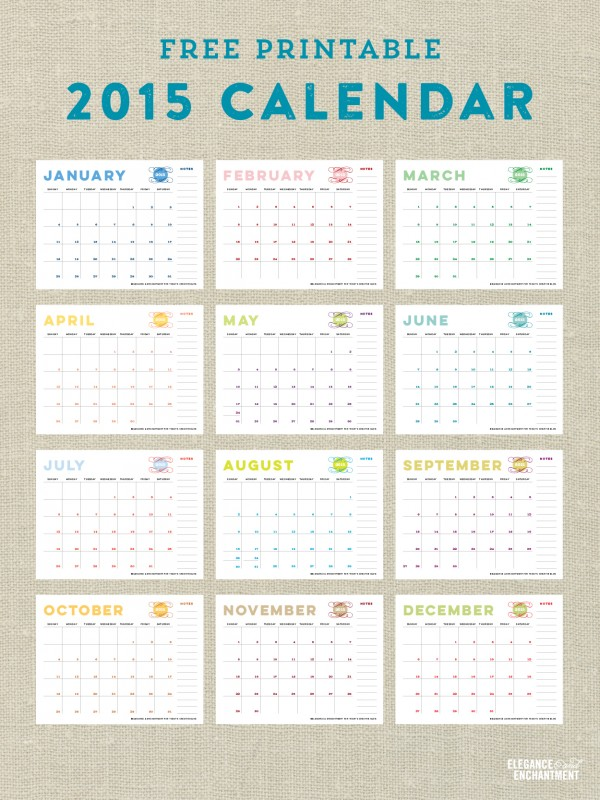 Calendar and Meal Planner Printables - Vertical2