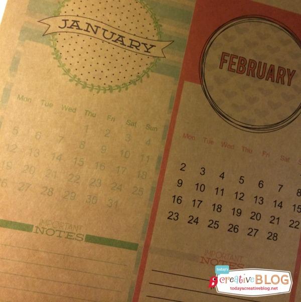 Calendar on Kraft Paper