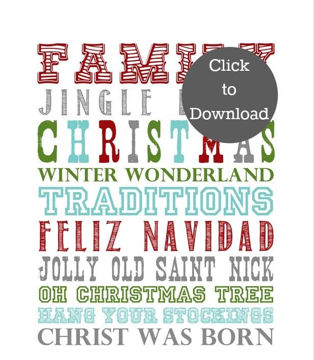 Printable Christmas Candy Bar Wrapper | TodaysCreativeblog.net