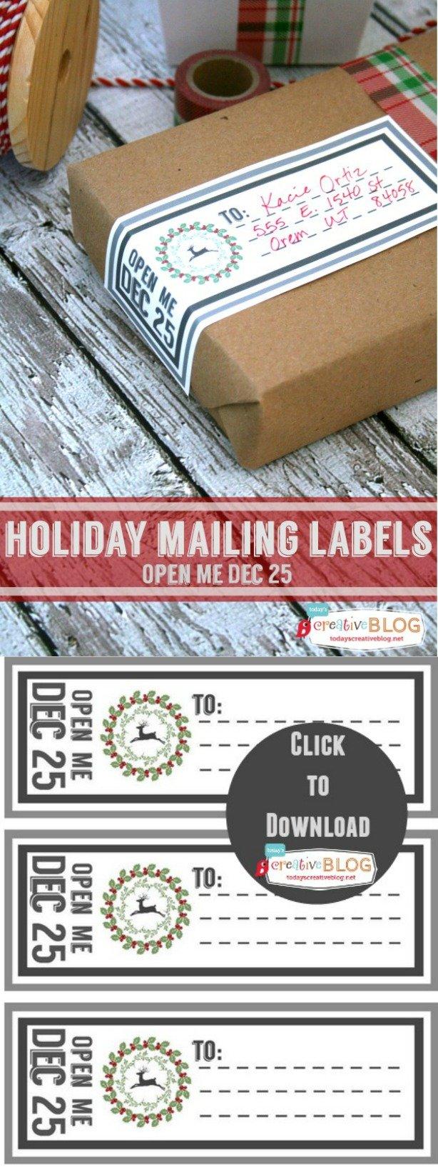 Christmas Printable Labels on TodaysCreativeBlog.net