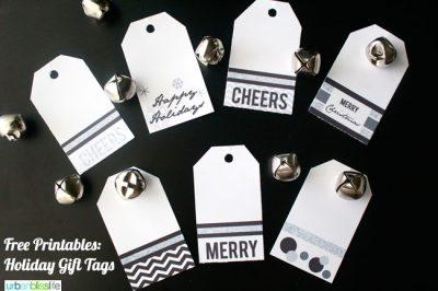 Printable Christmas Holiday Gift Tags | TodaysCreativeBlog.net