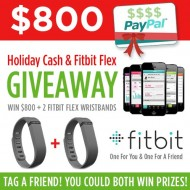 Holiday Cash & Fitbit Giveaway!!
