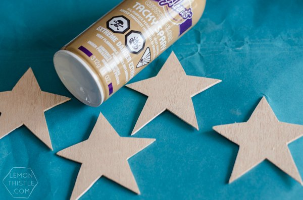 DIY Glittered Wood Star Ornaments | TodaysCreativeBlog.net