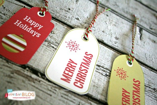 Printable Holiday Gift Tags | TodaysCreativeBlog.net