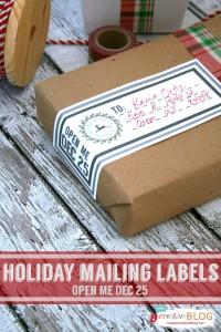 Holiday Mailing Labels TodaysCreativeblog.net