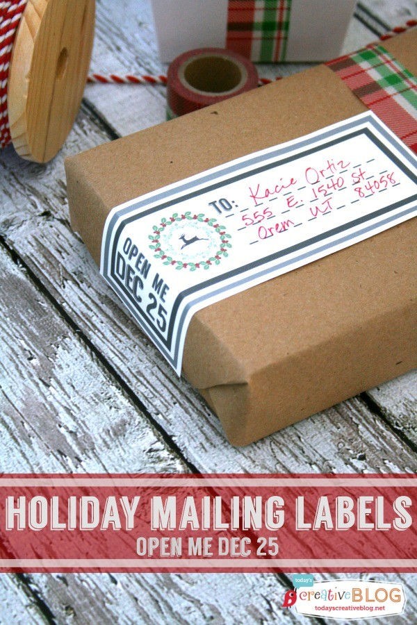 Holiday Printable Mailing Labels | TodaysCreativeLife.com