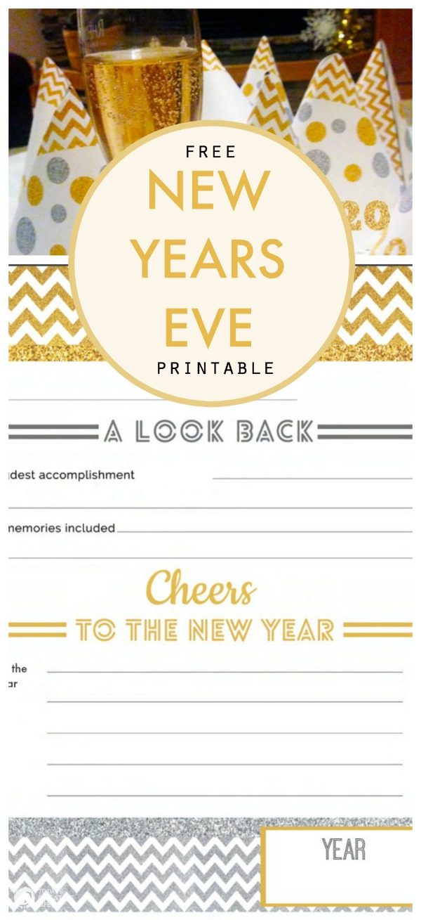 Free Printable New Year's Eve Activity Sheet | Free Printable fill in NYE worksheet | Goal Setting | A Look Back | Celebrate NYE | TodaysCreativeLIfe.com