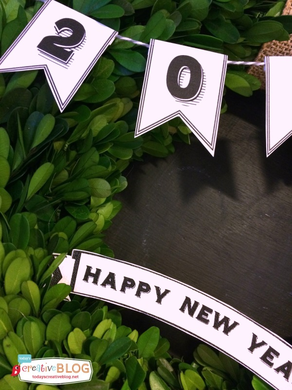 Printable 2015 NYE Banner | TodaysCreativeblog.net