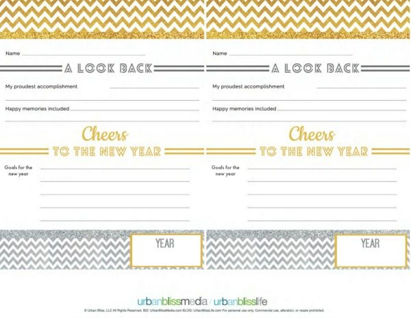 NYE Free Printables | Goal Setting | Activity Sheet | TodaysCreativeLife.com