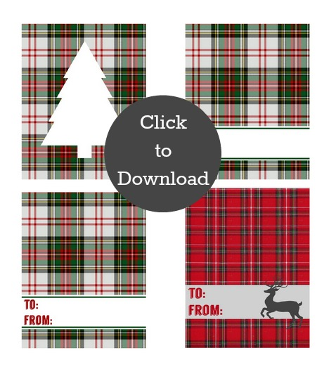 Plaid Gift Tags | TodaysCreativeBlog.net