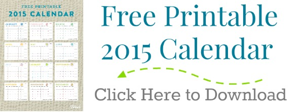 Printable 2015 Calendar  TodaysCreativeblog.net