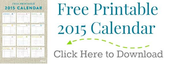 Printable 2015 Calendar TodaysCreativeblog.net