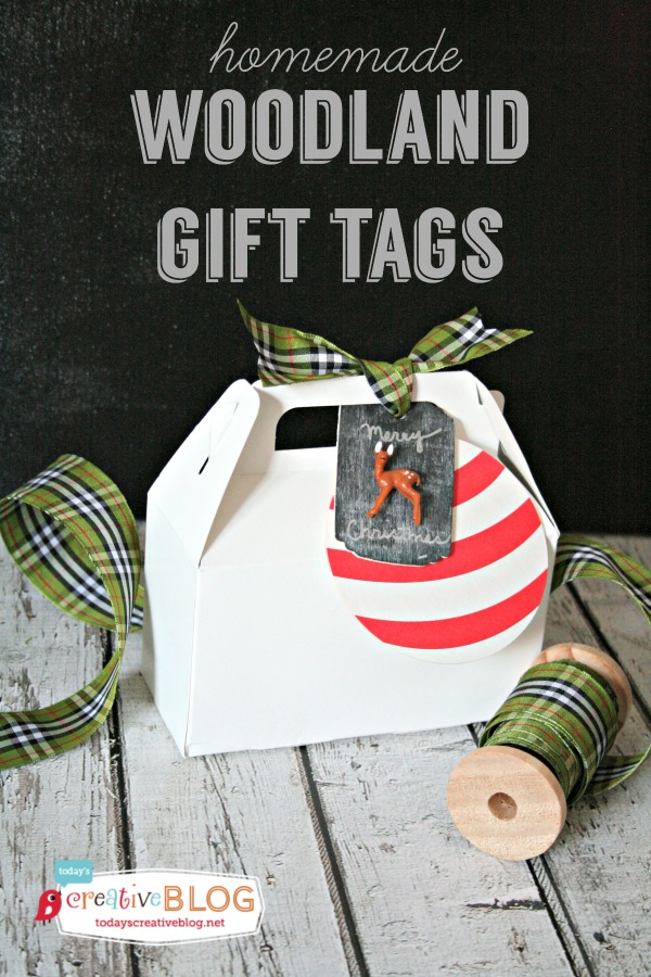 DIY Woodland Gift Tags | TodaysCreativeBlog.net