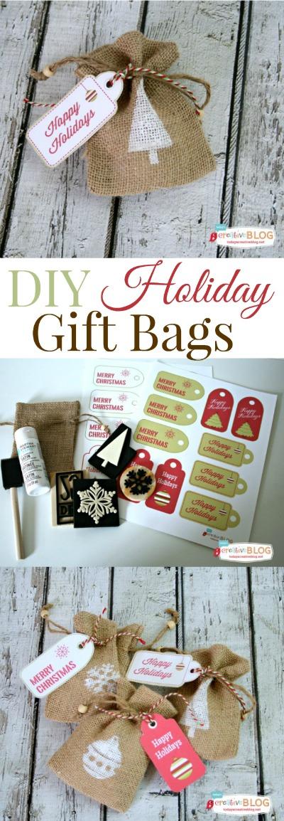 diy holiday gift bags - todayscreativeblog.net